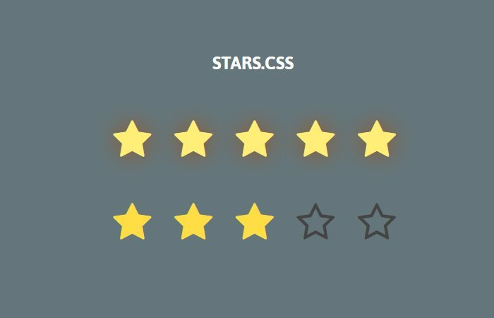 Plain HTML Star Rating System