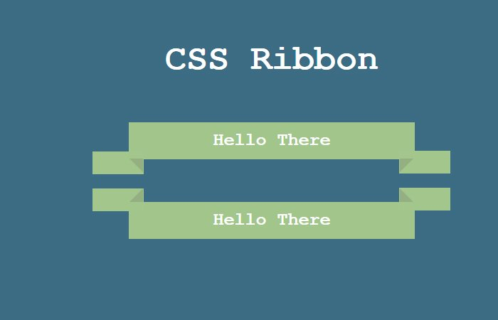 Animated Pure CSS Ribbon Shape