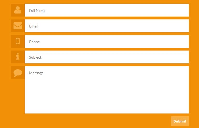 Simple HTML5 Contact Form