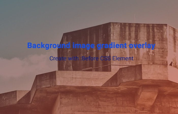Background Image Gradient Overlay