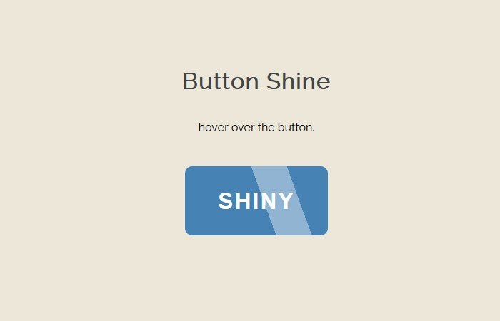How to Create CSS Button Shine Effect on Hover