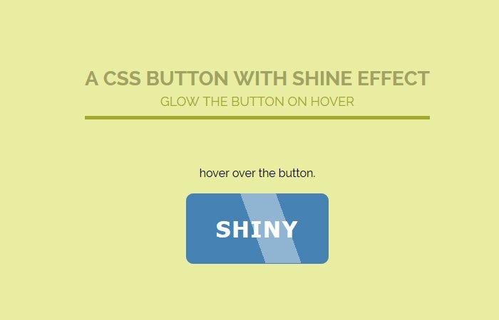 CSS Glow Button Hover Effect