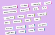 CSS Sliding Tags Effect