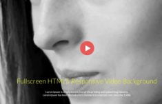 Fullscreen HTML5 Responsive Video Background