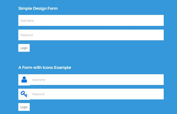 A login form with Plain HTML/CSS