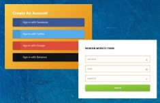 Registration Form in HTML Template Free Download