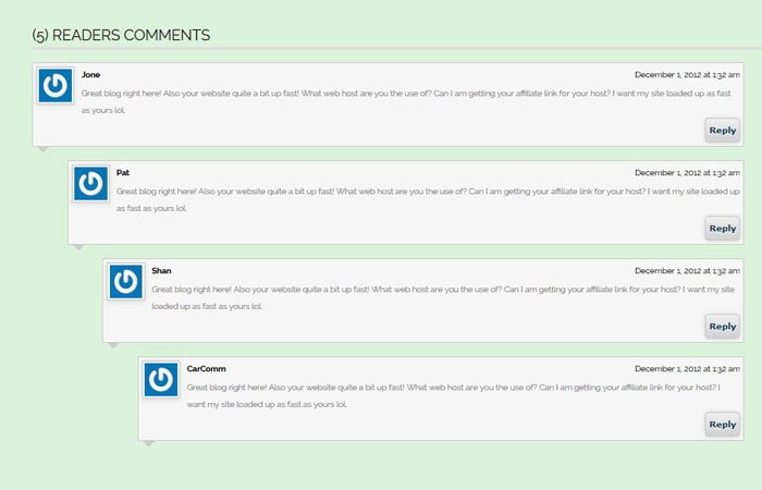 CSS Comment Box Design