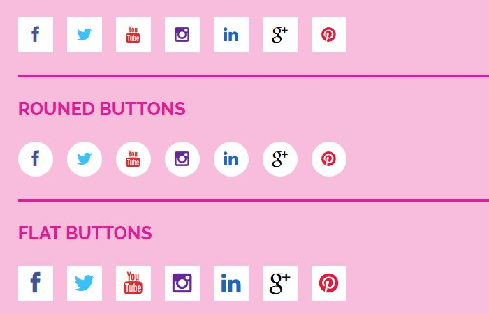 CSS Social Media Buttons