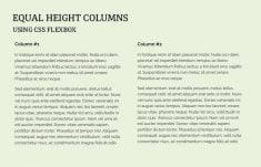 How to Make Equal Height Columns using CSS Flexbox