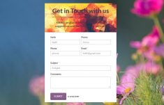 Clean Responsive HTML Contact Form Free Download