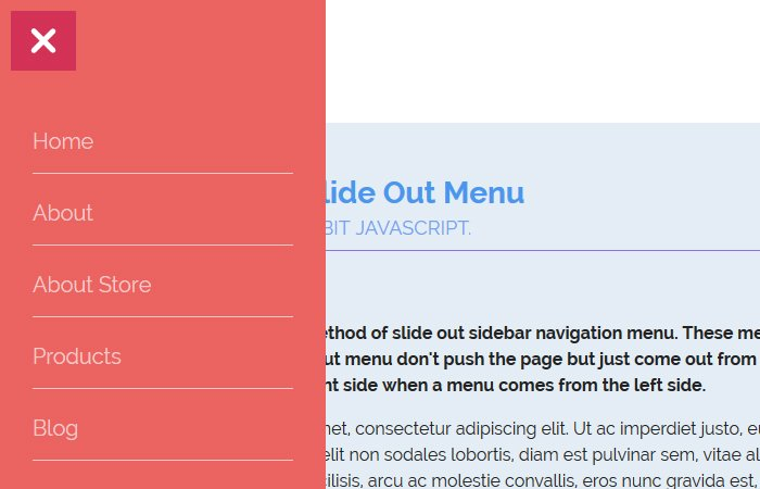 Create Responsive Side Navigation Menu