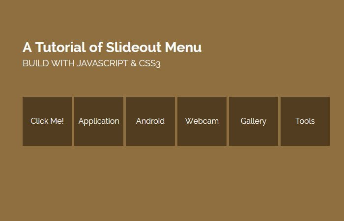 Building Slide Out Menu Using Only Javascript