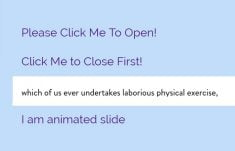 CSS Slide Animation On Click