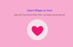 Pure CSS Heart Shape or Icon Using HTML