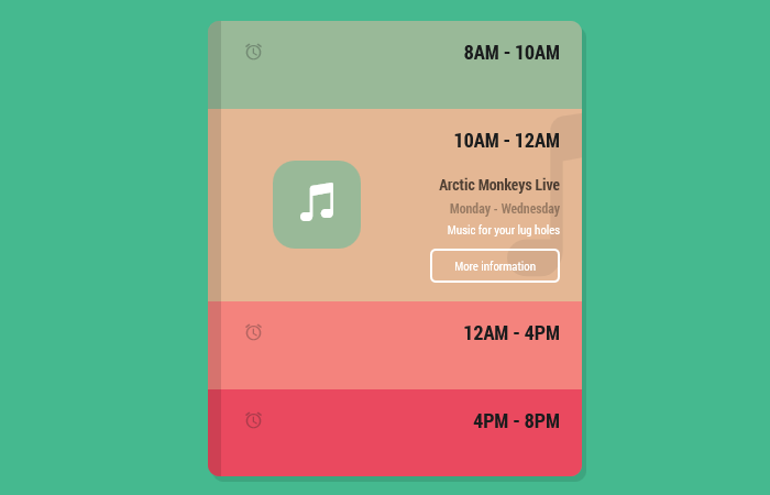 Beautiful Pure CSS Animated Accordion Menu