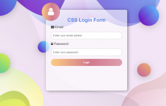 Stylish Login Page in HTML with CSS Code