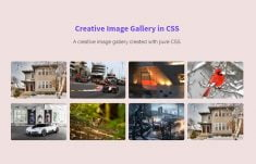 Creative Image Gallery in CSS and HTML