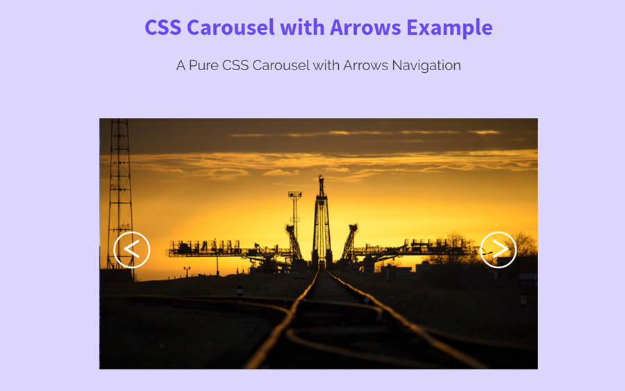 Pure CSS Carousel with Arrows Navigation