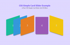Pure CSS Simple Card Slider with 3D Effect