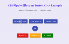 Create Ripple Effect on Button Click using CSS