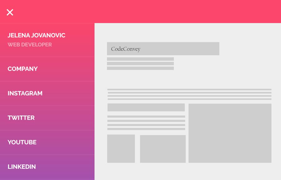 Vertical Sidebar Toggle Menu Responsive with CSS