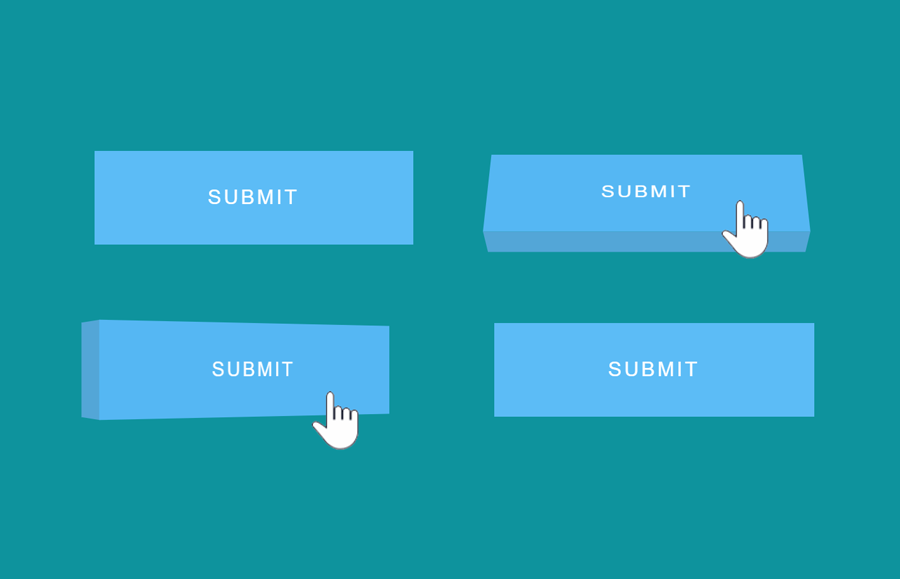 3D Button Hover Effects using Pure CSS