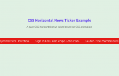 Horizontal News Ticker using Pure CSS