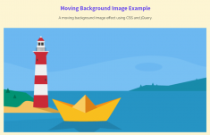 Moving Background Image CSS on Scroll