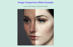 Pure CSS Image Comparison Slider
