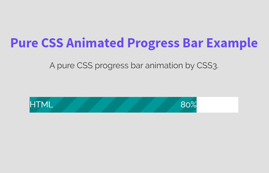 Pure CSS Progress Bar Animation by CSS3