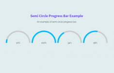 Create Semi Circle Progress Bar using CSS