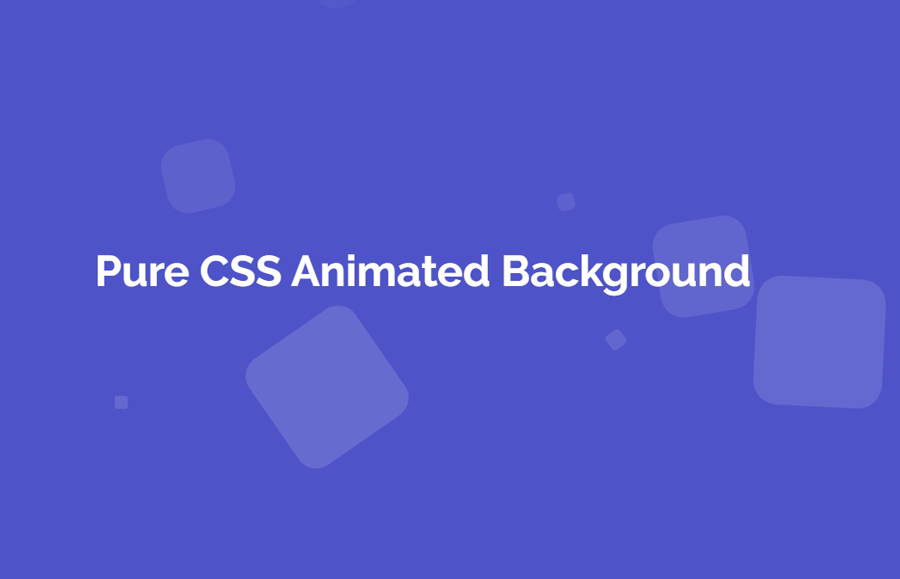 Animated Website Background with HTML5