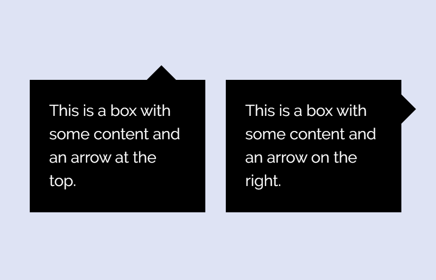 CSS Message Box with Arrow Icon