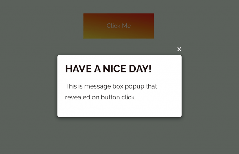 Display Message on Button Click in HTML
