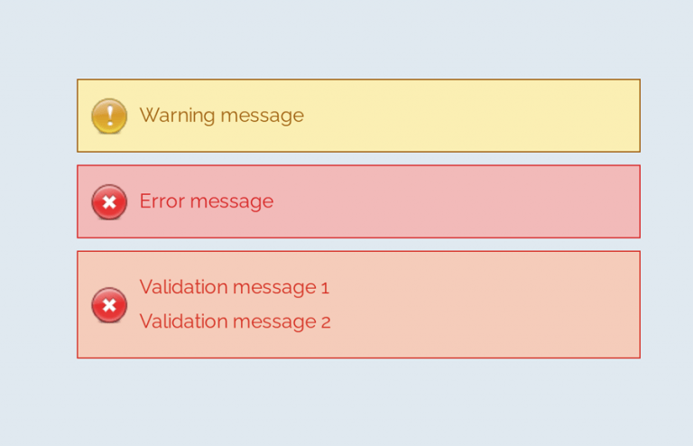 Error Message CSS Style Example with Demo