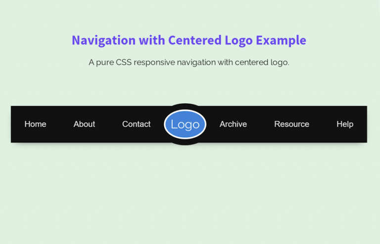 Responsive Navigation with Centered Logo