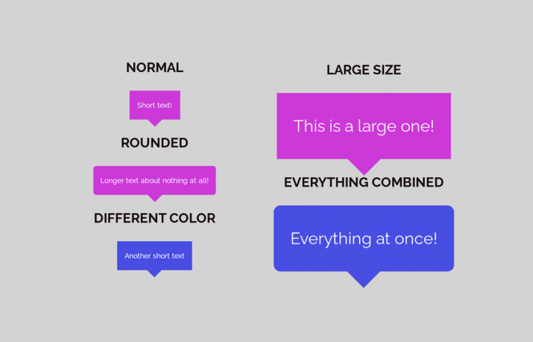 Create CSS Speech Bubble with Border