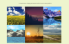 Responsive Image Grid with Hover Effects