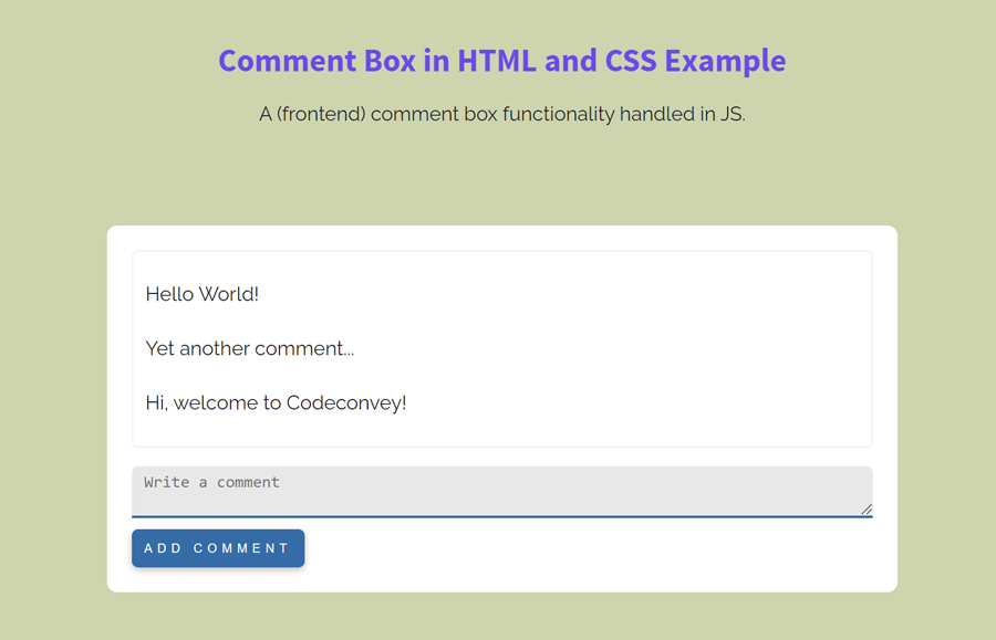 Create a Comment Box in HTML and CSS