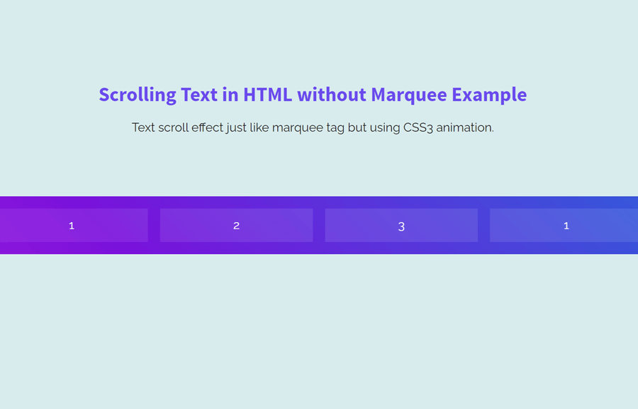 Scrolling Text in HTML without Marquee Tag