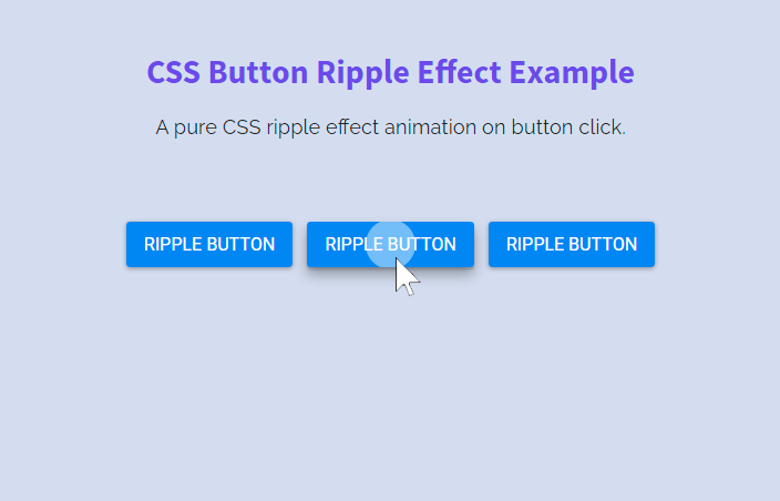 Button Ripple Effect Animation using CSS only