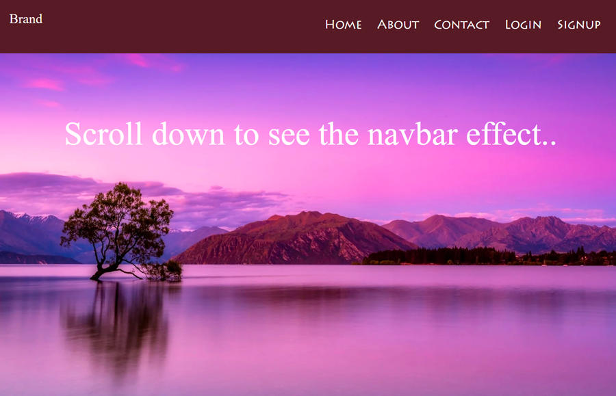 Navbar Transparent to Solid on Scroll using CSS