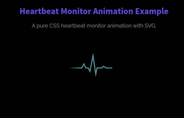 CSS Heartbeat Monitor Animation with SVG