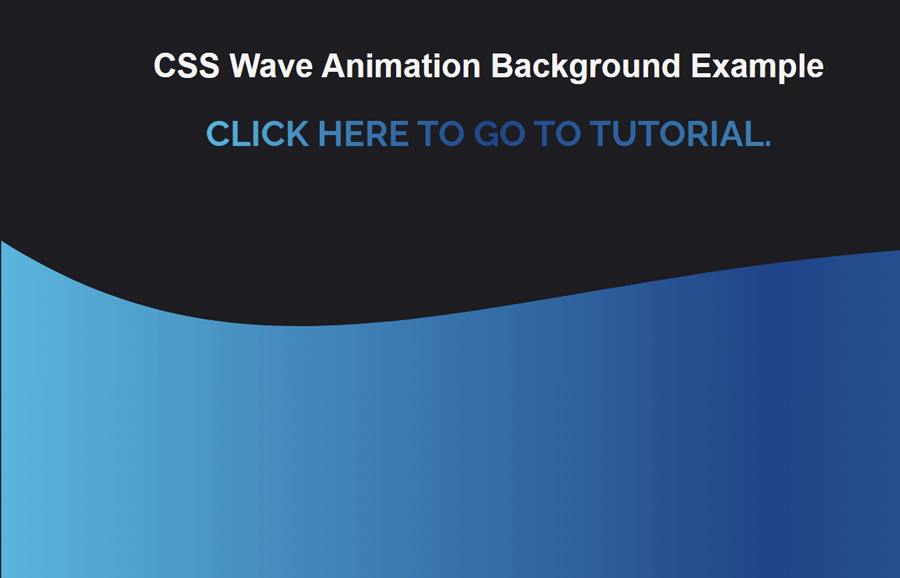 CSS Wave Animation Background with SVG