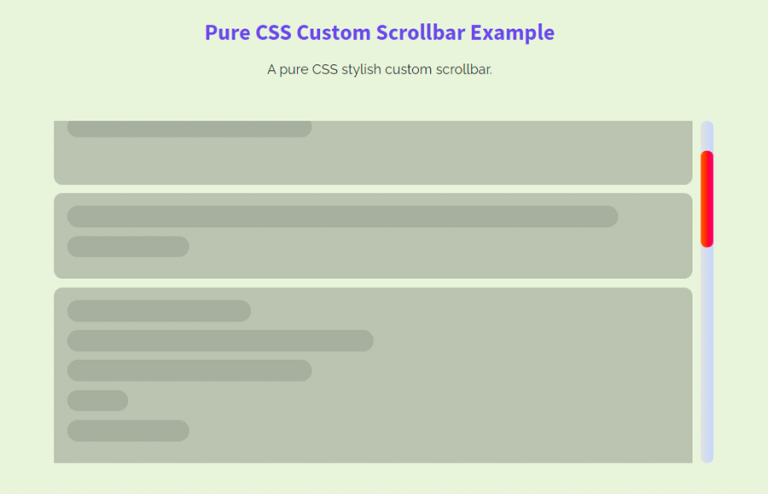 Custom Scrollbar CSS for all Browsers