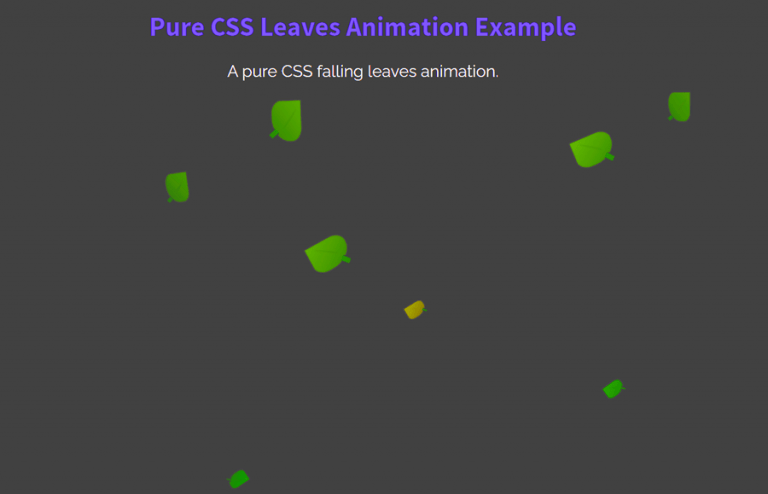 Pure CSS Leaves Animation Effects